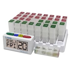 Low Profile MeCenter System 31 Day Medication Mgt. System Pill Organizers
