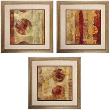 Caribbean 4 Piece Framed Painting Print Set