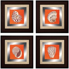 Cayman 4 Piece Framed Graphic Art Set