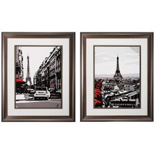 Paris 2 Piece Framed Graphic Art Set