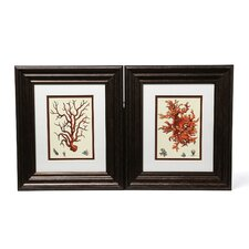 Red Coral I / III Wall Art (Set of 2)