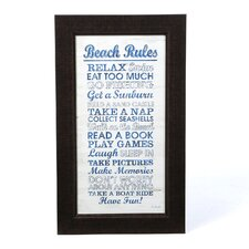 Beach Rules Wall Art