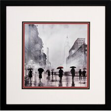 Paris New York 2 Piece Framed Painting Print Set