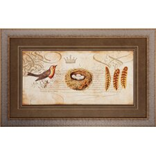 Nesting 2 Piece Framed Graphic Art Set