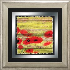 Poppies 2 Piece Framed Wall Art Set in Red