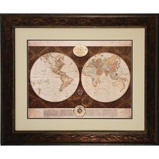 <strong>Propac Images</strong> Map of The World Framed Art
