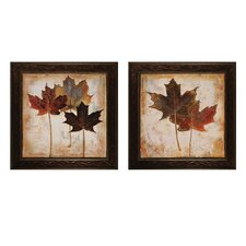 Leaves III / IV 2 Piece Framed Graphic Art Set (Set of 2)