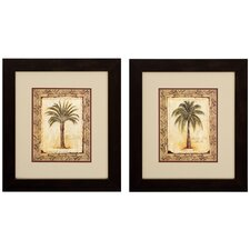 Majestic and Date 2 Piece Framed Painting Print Set (Set of 2)
