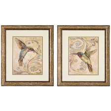 Hummingbird I / II 2 Piece Framed Graphic Art Set (Set of 2)