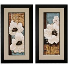 White Poppies I / II Framed Art (Set of 2)