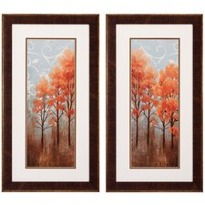Red Trees I / II Framed Art (Set of 2)