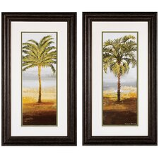 Beach Palm I / II 2 Piece Framed Painting Print Set (Set of 2)