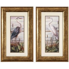 Heron / Egret Framed Art (Set of 2)