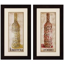 <strong>Propac Images</strong> Rosso / Blanco Wall Art (Set of 2)
