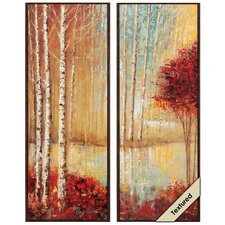 Emerald Pond I/II 2 Piece Framed Painting Print Set (Set of 2)