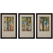Wooldand I / II / III 3 Piece Framed Painting Print Set (Set of 3)
