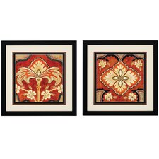 Kashmir I and II 2 Piece Framed Painting Print Set (Set of 2)