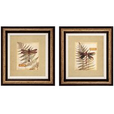 Dragonfly III and IV 2 Piece Framed Painting Print Set (Set of 2)