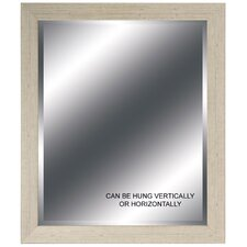 "Cream Beveled Mirror - 24"" x 28"""