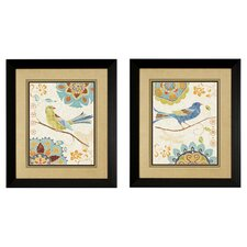 Eastern Birds I / II 2 Piece Framed Graphic Art Set (Set of 2)