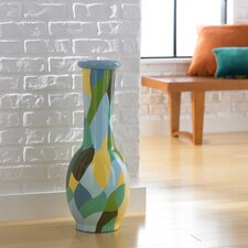 Small Patchwork Round Decorative Vase