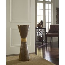 Wood Grain Wide Flute Round Floor Vase