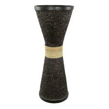 Ubud Rice Husk Wide Flute Floor Vase