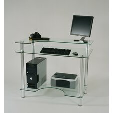 "<strong>Tier One Designs</strong> 43"" W Glass Computer Desk"