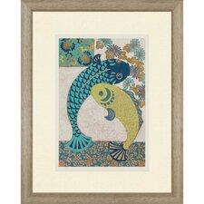Koi Ornament I Giclée by Zarris Framed  Painting Print
