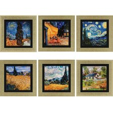 Van Gogh 6 Piece Framed Painting Print Set