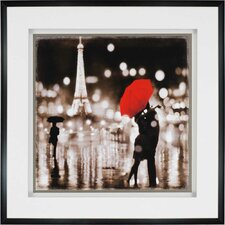 A Paris Kiss by Carrigan Graphic Art Shadow Box