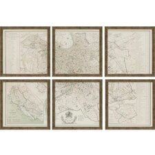 Rome by Benoist 6 Piece Framed Painting Print Set