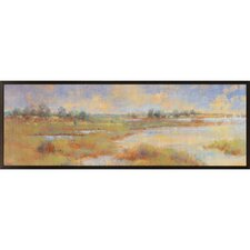 In the Fields by Longo Framed Painting Print Plaque