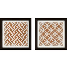 Modern Symmetry I by Zarris 2 Piece Framed Painting Print Set
