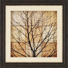 Tree Silhouette II by Donovan Framed Graphic Art Shadow Box
