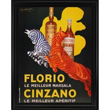 Florio E Cinzano 1930 by Cappiello Framed Vintage Advertisement