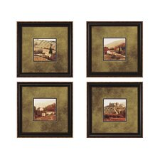 <strong>Paragon</strong> Campagna in Fields Framed Print - Melious (Set of 4)