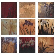 Abstract Iris Nine Patch II Canvas Art - Li-Leger (Set of 9)