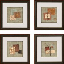 "Nature Collage by Anonymous Contemporary Art - 19"" x 19"" (Set of 4)"