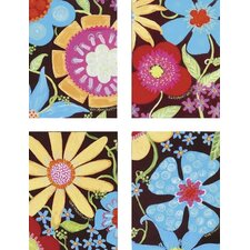 "Flowers and Fudge by Weigel Kids Art - 16"" x 12"" (Set of 4)"