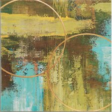 "Aller Chartreuse by St. Germain Contemporary Art - 32"" x 32"""