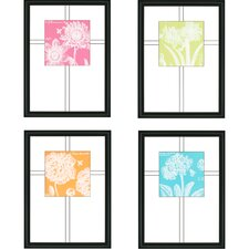 Summer Bees Florals by Scaletta Framed 4 Piece Graphic Art
