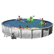 "Complete Round 52"" Deep Hamilton Above Ground Pool Package"