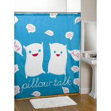 Pillow Talk Cotton Shower Curtain