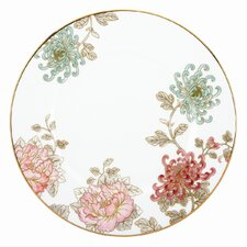 """Painted Camellia 10.75"""" Dinner Plate"""