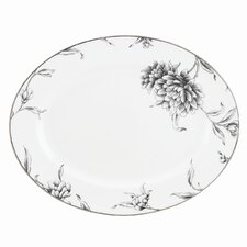 "Floral Illustrations 13"" Oval Platter"