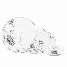 Floral Illustrations 5 Piece Place Setting