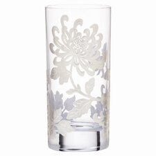 <strong>Marchesa by Lenox</strong> Painted Camellia Crystal Highball Glass