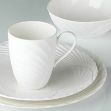 Pleated Swirl 4 Piece Place Setting