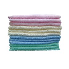 100% Cotton Deluxe Wash Coth Set (Set of 12)